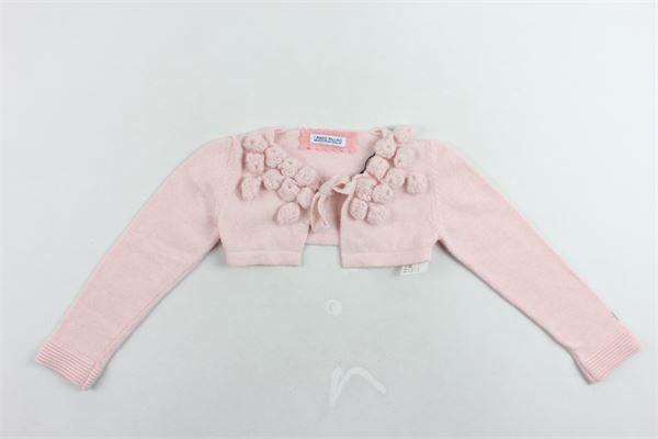coprispalle in lana tinta unita con applicazioni I PINCO PALLINO | Coprispalle | 82127698RSROSA