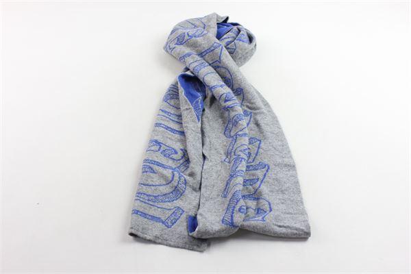 completo sciarpa più cappello in lana tinta unita con stampa ICEBERG | Completi | 35WAV01GRIGIO
