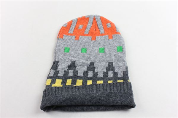 completo sciarpa più cappello in lana tinta unita con stampa ICEBERG | Completi | 35WAV04GRIGIO