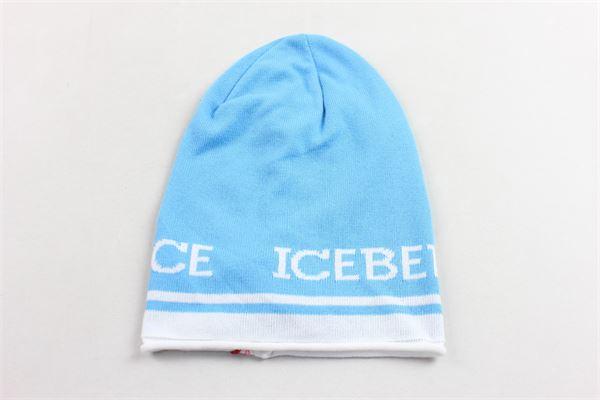 cappello 100%cotone tinta unita con stampa ICEBERG | Cappelli | 36XPP50AZZURRO