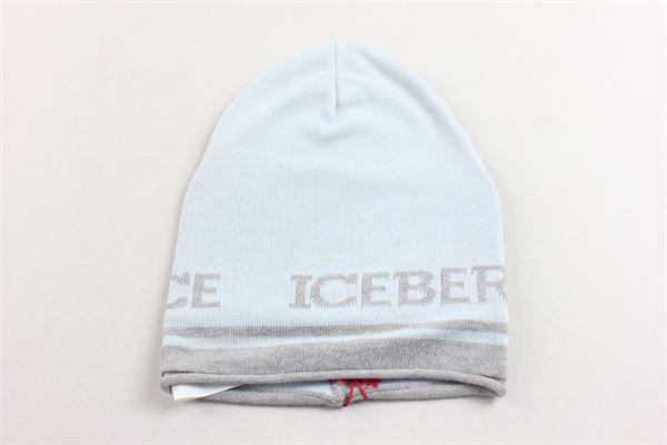 cappello 100%cotone tinta unita con stampa ICEBERG | Cappelli | 36XPP50CELESTE
