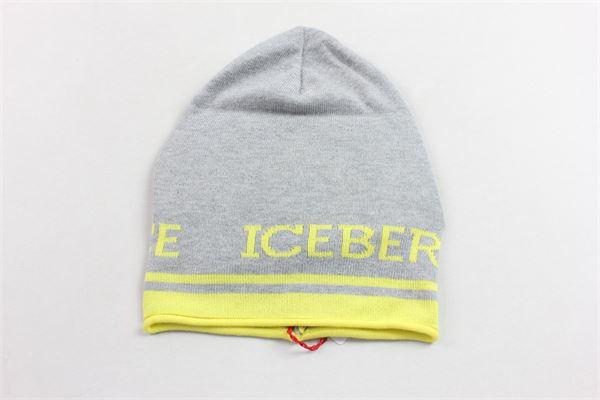 cappello 100%cotone tinta unita con stampa ICEBERG | Cappelli | 36XPP50GRIGIO