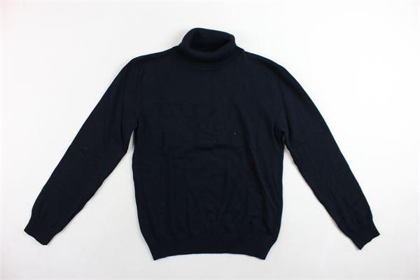 maglione manica lunga collo alto tinta unita 100%cotone ICEBERG | Maglie | MGICE9302JBLU