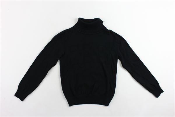 maglione manica lunga collo alto tinta unita 100%cotone ICEBERG | Maglie | MGICE9302JNERO