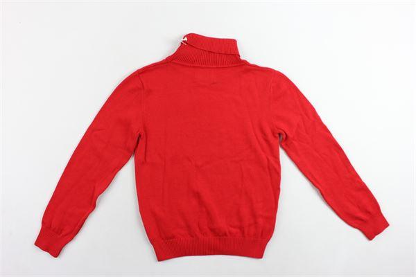 maglione manica lunga collo alto tinta unita 100%cotone ICEBERG | Maglie | MGICE9302JROSSO