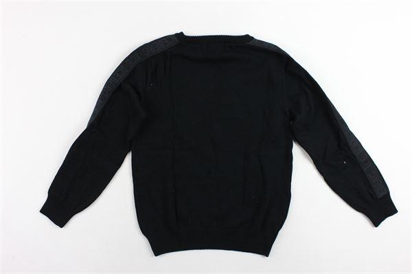 maglione girocollo tinta unita con stampa 100%cotone ICEBERG | Maglie | MGICE9309JNERO