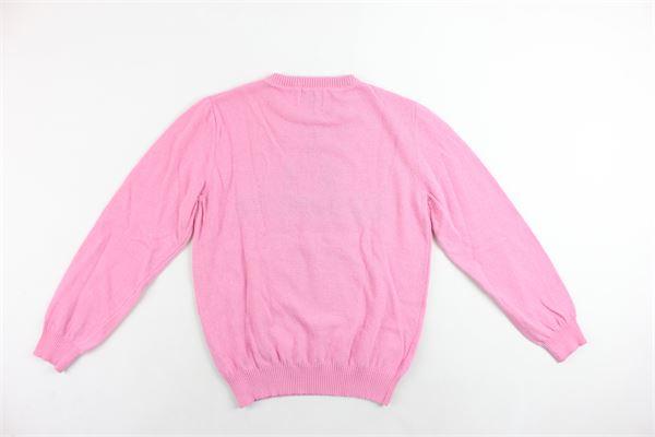 maglione in lana  girocollo con stampa ICEBERG | Maglie | MGICEDF93044JROSA