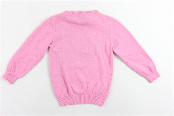 maglione in lana  girocollo con stampa ICEBERG | Maglie | MGICEF9304BROSA