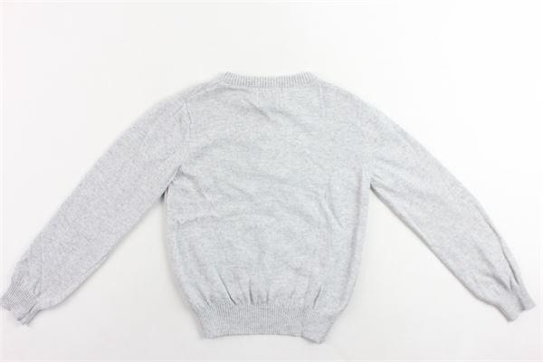 maglione girocollo tinta unita con stampa in lana e cotone ICEBERG | Maglie | MGICEF9304JGRIGIO