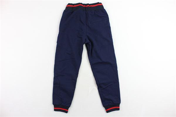pantalone tuta felpato tinta unita profili loggati in contrasto ICEBERG | Pantaloni | PFICE9301JBLU