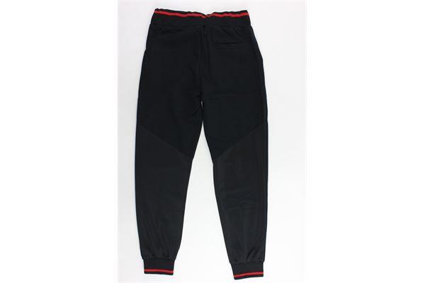 pantalone tuta felpato tinta unita con stampa ICEBERG | Pantaloni | PFICE9304JNERO