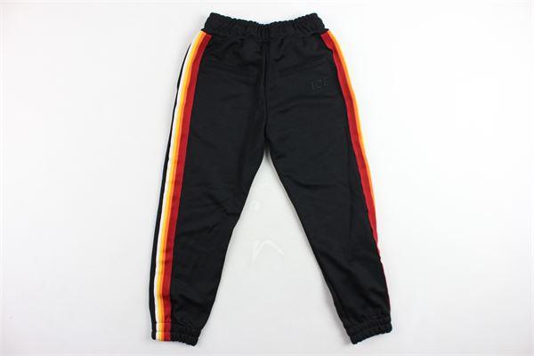 pantalone tuta triacetato profili in contrasto ICEBERG | Pantaloni | PFICE9308JNERO