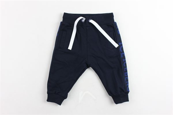 pantalone tuta felpato tinta unita profili loggati ICEBERG | Pantaloni | PFICE9311BBLU