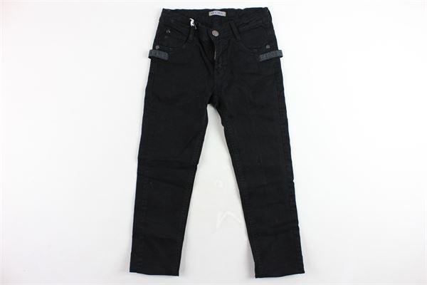 jeans 5 tasche tinta unita girovita regolabile ICEBERG | Jeans | PTICE9305JNERO