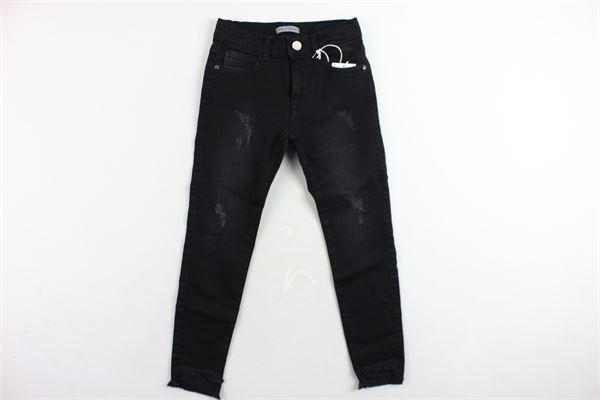 jeans 5 tasche tinta unita con stappi girovita regolabile ICEBERG | Jeans | PTICEF9310JNERO