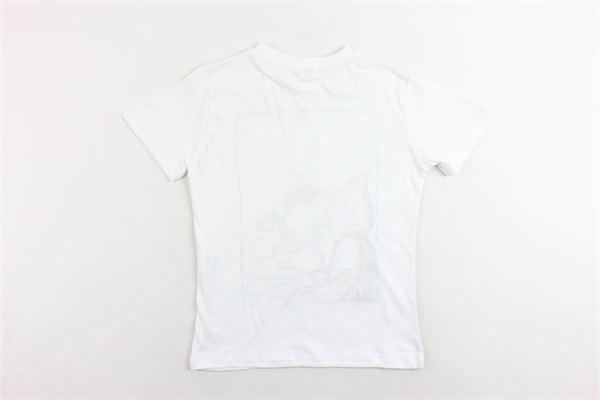 t-shirt mezza manica tinta unita con stampa ICEBERG | T-shirts | TSICE9312JBIANCO