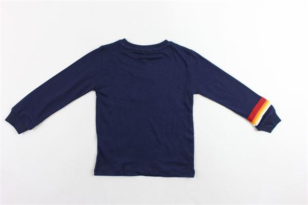 shirt cotone caldo tinta unita con stampa ICEBERG | Shirts | TSICE9318BBLU