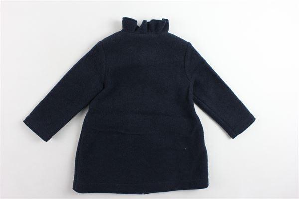 cappotto tinta unita con rouches alle tasche IL GUFO | Giubbini | A18GP207N0041BLU