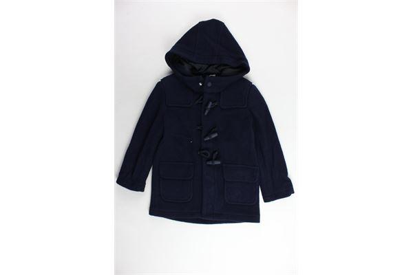 cappotto lungo tinta unita con cappuccio IL GUFO | Giubbini | A18GP215W0048BLU