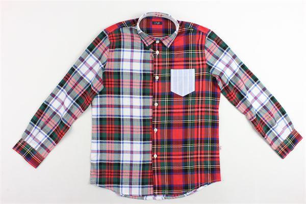 camicia manica lunga con taschino fantasia a quadri IL GUFO | Camicie | A19CL164C3109/1037ROSSO