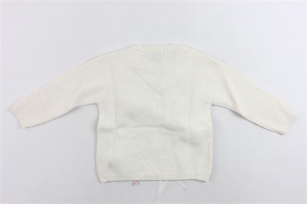 cardigan manica lunga tricot con applicazioni IL GUFO | Maglie | A19GF313EM220/1007BEIGE