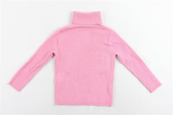 maglione collo alto tricot tinta unita IL GUFO | Maglie | A19MA294EM220/327ROSA