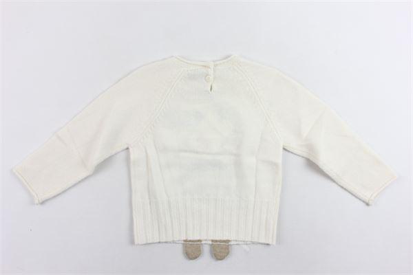 maglione tricot con stampa IL GUFO | Maglie | A19MA300EM620/1014BEIGE