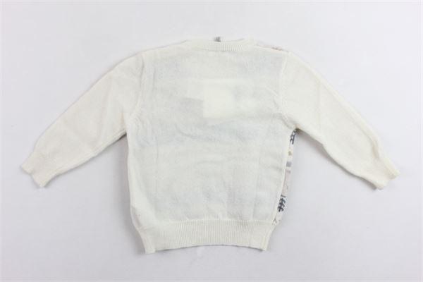 maglione tricot con stampa e bottoni alla spalla IL GUFO | Maglie | A19MA303EM620/1014BEIGE