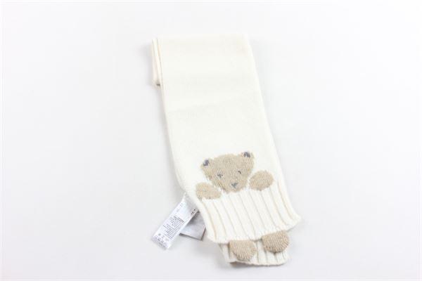 sciarpa tricot tinta unita con stampa IL GUFO | Sciarpe | A19SP104EM820BEIGE