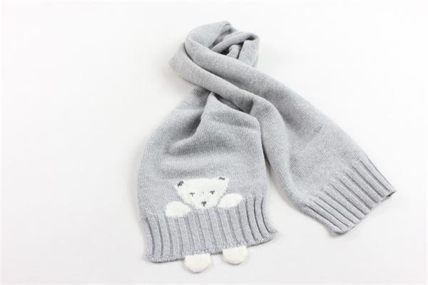 sciarpa tricot tinta unita con stampa IL GUFO | Sciarpe | A19SP104EM820GRIGIO