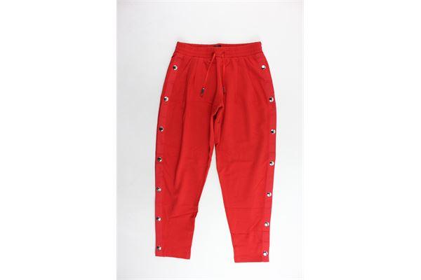 pantalone tinta unita elastico in vita con bottoni laterali JIJIL | Pantaloni | JJE18PA136ROSSO