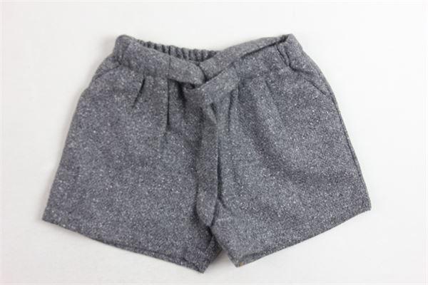 shorta in lana tinta unita con fiocco J.O. MILANO   Shorts   764F4GRIGIO