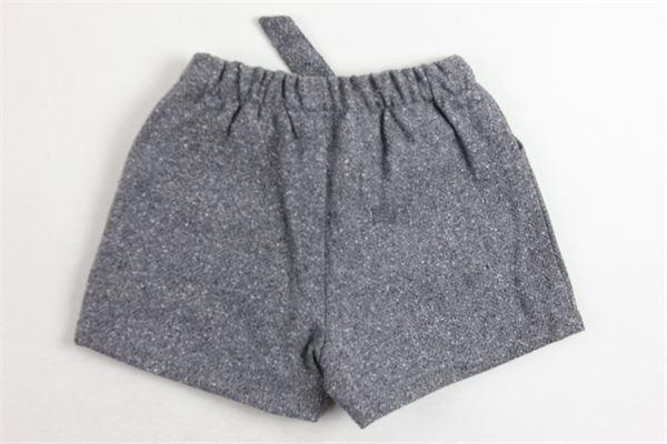shorta in lana tinta unita con fiocco J.O. MILANO | Shorts | 764F4GRIGIO