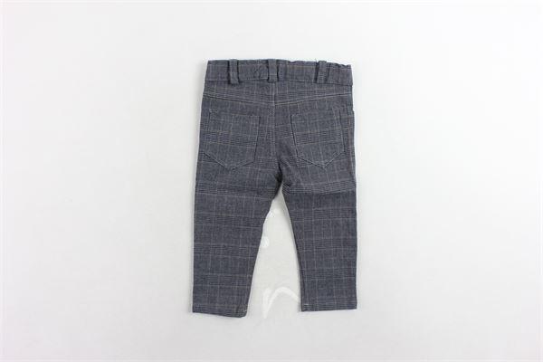 pantalone girovita regolabile fantasia a quadri J.O. MILANO | Pantaloni | 764H22GRIGIO