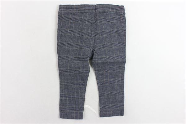 pantalone girovita regolabile fantasia a quadri J.O. MILANO | Pantaloni | 764H3GRIGIO