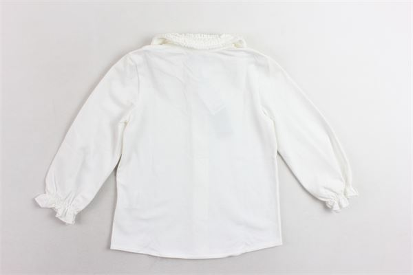 camicia cotone caldo collo in rouches J.O. MILANO | Camicie | 766X8BIANCO