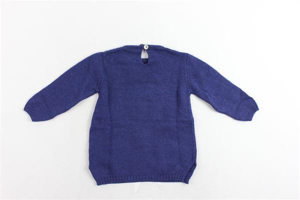 maglione maxi girocollo tinta unita con stampa J.O. MILANO | Maglie | 862D2BLU