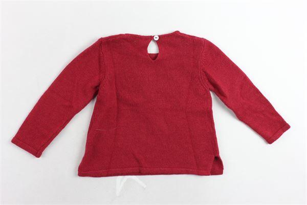 maglione manica lunga tinta unita con stampa J.O. MILANO | Maglie | 863F2ROSSO