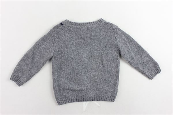 maglione girocollo tinta unita con profili colorati J.O. MILANO | Maglie | 863F3GRIGIO