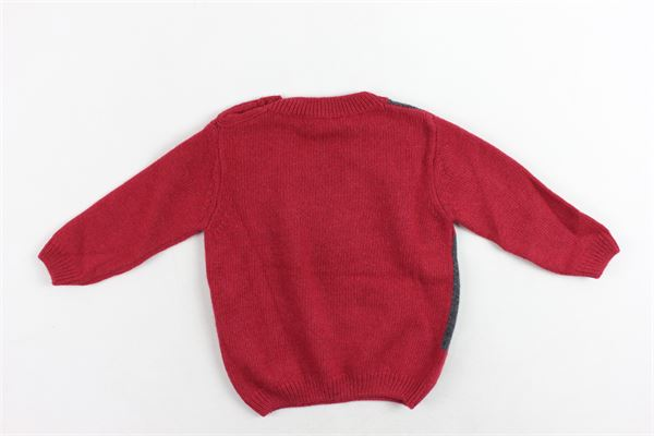 maglione girocollo tinta unita con stampa finto gilet J.O. MILANO | Maglie | 863I2BORDEAU