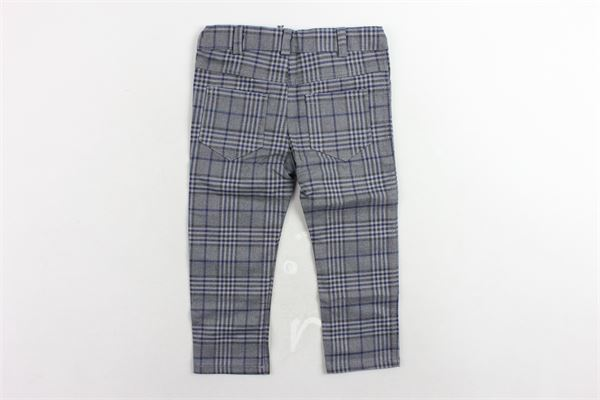 pantalone 5 tasche girovita regolabile fantasia a quadri J.O. MILANO | Pantaloni | 864G1GRIGIO