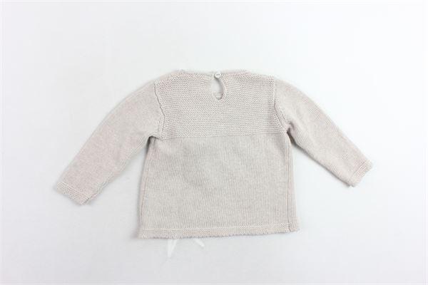 maglione tinta unita con applicazione J.O. MILANO | Maglie | 963A2BEIGE