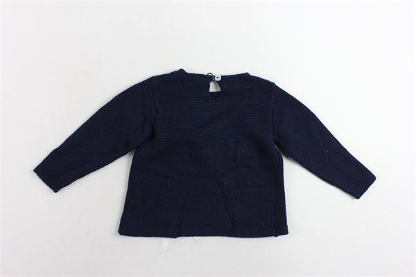 maglione tinta unita con applicazione J.O. MILANO | Maglie | 963A2BLU