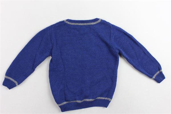 maglione girocollo tinta unita con profili in contrasto J.O. MILANO | Maglie | 963E4BLU