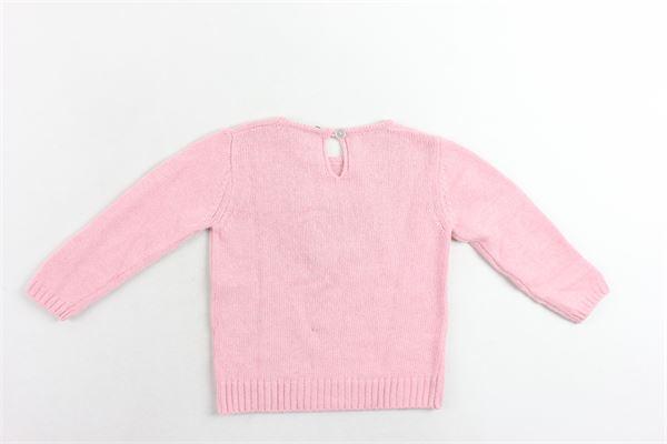 maglione tinta unita con applicazioni J.O. MILANO | Maglie | 963N1ROSA