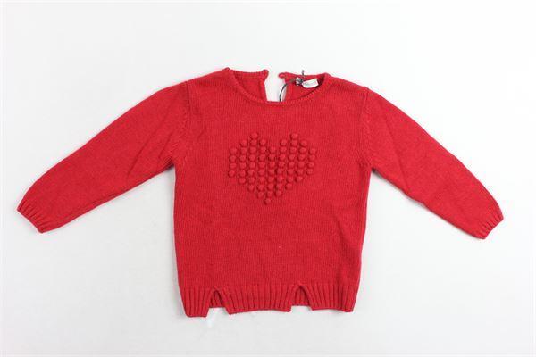 maglione tinta unita con applicazioni J.O. MILANO | Maglie | 963N1ROSSO