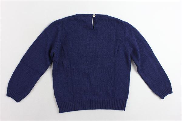 maglione tinta unita con stampa J.O. MILANO | Maglie | 963Q1BLU