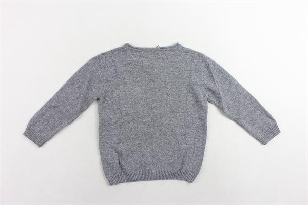 maglione tinta unita con taschino J.O. MILANO | Maglie | 963Z2GRIGIO