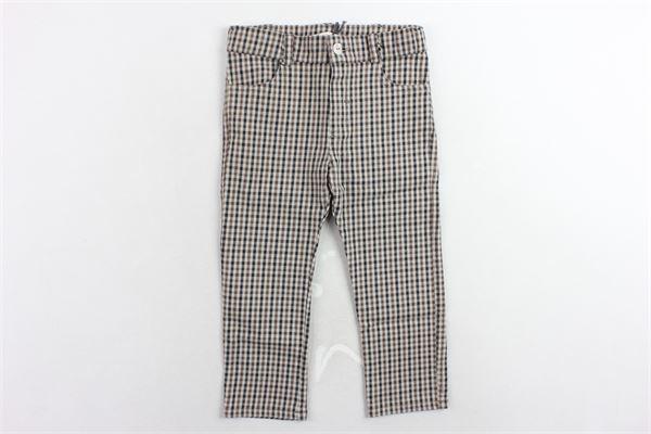 pantalone fantasia a quadri girovita regolabile J.O. MILANO | Pantaloni | 964G2BEIGE