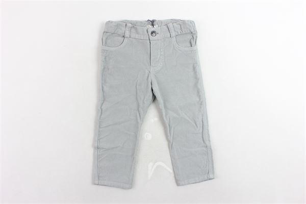 pantalone girovita regolabile tinta unita in velluto J.O. MILANO | Pantaloni | 964Z5GRIGIO